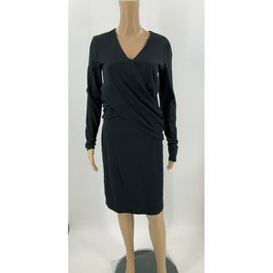 Sundance Sheath Dress Size S Black Criss Cross